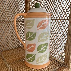 Vintage fall leaf coffee carafe insulated